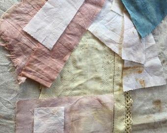 Eco-Print Natural Plants Bundle Cotton Homespun, Linen and Huck