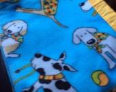 Playful Pups Fleece Dog Blanket