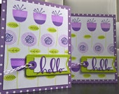 Blank Cards Set of 2, Hello Cards, Floral Greeting Cards Set, Any Occasion Blank Cards, Floral Thank You Cards