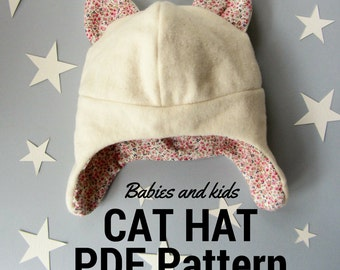 Winter babies & kids hat: PDF pattern and video tutorial