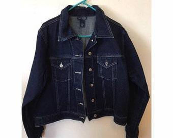 Vintage Dark Wash Denim Jacket