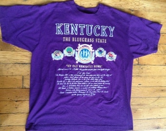 Vintage Kentucky The Bluegrass State t shirt USA XL