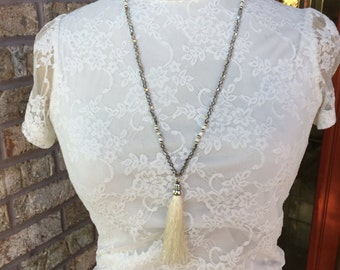 Beautiful one-of-a-kind tassel necklace long necklace