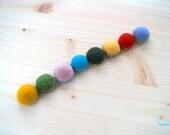 Felt Fridge Magnets - set of 8 Colorful magnets OOAK - Child Safe
