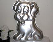 """1991 Wilton Precious Puppy Cake Pan, 15 1/8 X 10 7/8 X 2"""", Large Dog Cake Mold, Baking Pan 2105 9434"""