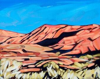 "GILA MORNING | 8"" x 10"" | Original Painting by Carol Bold | 2013"