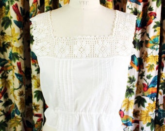 1960s Crocheted Lace Top