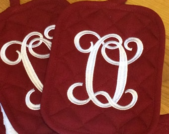 Embroidered Kitchen Towel, Christmas Gift, Oven Mitts, Hot Pads, Hand towels, Embroidered Hand Towels