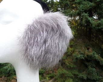 Pearl Grey Fox Earmuffs