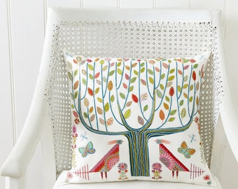 Tree Embroidery Cushion/sampler kit