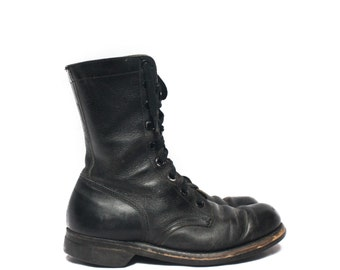 8   Men's Vintage 1960's Combat Boots Military Lace Up Boots Dated 1968