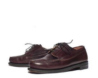 30% OFF 11 EE | Vintage L.L. Bean Shoes Men's Cordovan Moc Toe Oxfords Dress Shoes Loafer