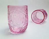 Handblown Glass, Sea Coral Glasess in Pale Pink,  Transparent Sea Glass, Holiday Gifts, Entertaining