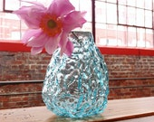 Glass Flower Vase, Bud Vase, Sea Coral Series, Pale Transparent Blue, Housewarming Gift