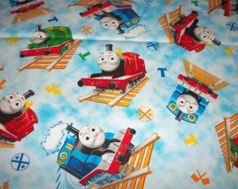 Thomas The Train Fabric  Engines ALLOVER  By Fat Quarter New BTFQ