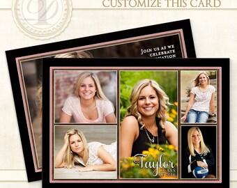Graduation Invitation, Custom Card, Graduation Invite, Graduation Announcement, Senior Announcements, Graduation Party Invitations, Taylor S