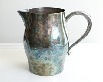 Vintage Silver Plate Pitcher William Rogers Silver Plate Pitcher Wedding Decor Vintage Farmhouse Pitcher