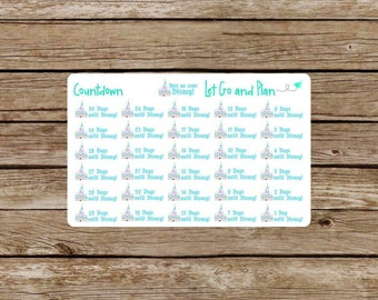 Theme Park Countdown Planner Stickers
