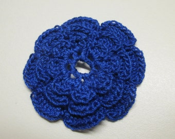 RUFFLED Spool Pin Doily (Royal Blue)