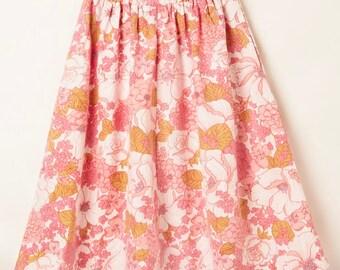 Connie Skirt Vintage Pink Hydrangeas