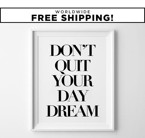 Minimalist Classroom Quotes ~ Motivational print wall art quote poster minimalist by