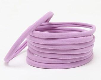 Wholesale Nylon Headbands, Nylon Headbands, Lavender, Soft Headbands, headbands, One size fits all, Skinny Headbands, Headband supplies