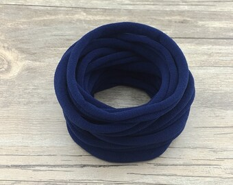Nylon Headbands, Navy Nylon baby headbands, wholesale nylon headbands, Soft nylon Headbands, leaves no mark, DIY Headband supplies, bulk