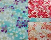 Cherry blossom in the wind, gold metallic, 1/2 yard, pure cotton fabric