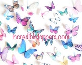 1/2 Price - YOU CUT out these Edible Butterflies for Cakes, Assorted Edible Cake Decorations, Butterfly Decoartions for Cupcakes