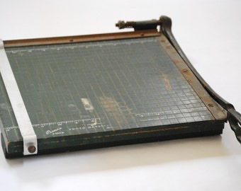 Vintage Paper Cutter 13 Inch Premier Brand Photo Trimmer Board