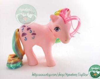 My Little Pony Parasol Vintage 1980s Toy by Hasbro Rainbow