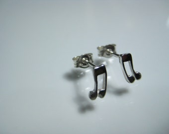 Music note earrings musical note ear stud earring gifts for musicians music lover earrings music lover gifts