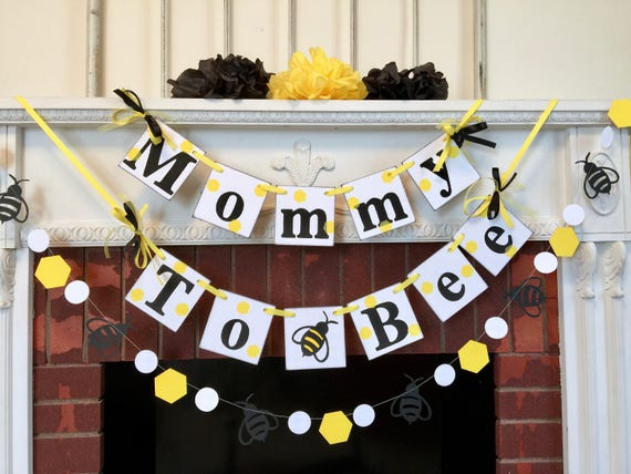 Mommy To Bee Banner Bumble Baby Shower Decorations