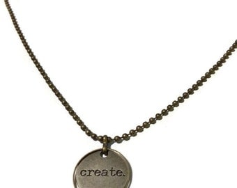 Word necklace create