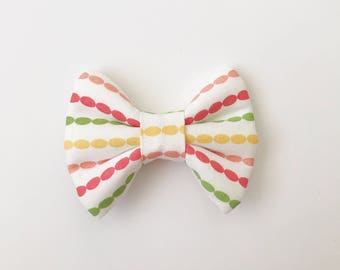Spring Dot Chain Bow (Handmade Bow / Bow Tie / or Headband)