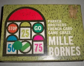 """Vintage 1962 Parker Brothers """"Milles Bornes"""" Card Game"""