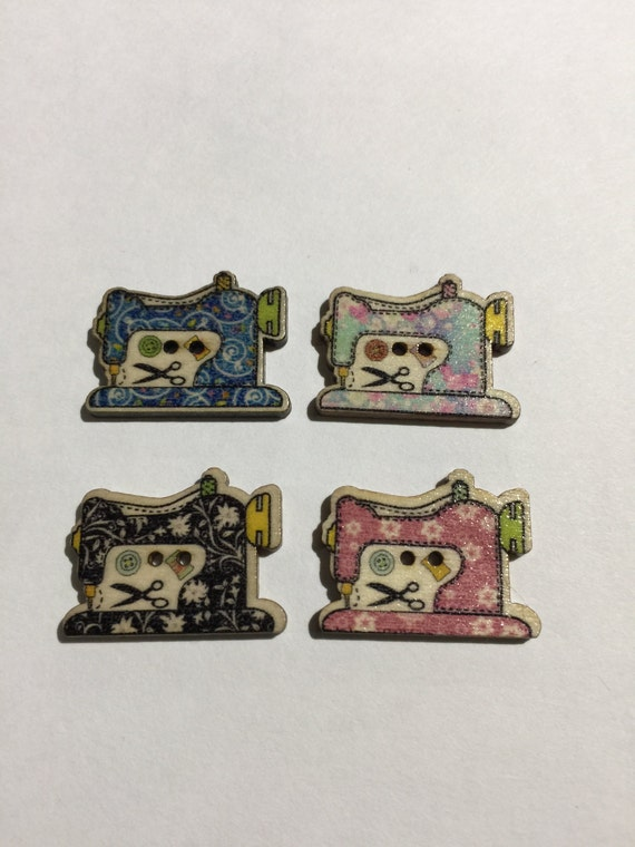Vintage novelty sewing machine buttons embellishments for Arts and crafts sewing machine