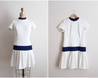 60s Nautical Mod Dress / 60s Dress / Scooter Dress / Mod / Size S/M