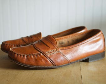Vintage Cole Haan Tan Penny Loafers 7.5