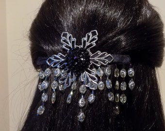 Large Barrette for Thick Hair/  French Barrette/Womens Gift