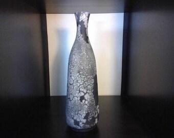 Naked raku bottle - 11 1\2 inches