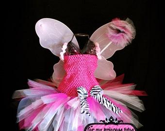 Zebra Fairy Dress/Costume Fairy Dress, Princess Tutu Dress, Princess Dress, Tutu Dress, Girls Tutu Dress, Fairy Tutu, Tutu Dress, Tutu Set