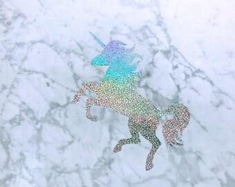 Holographic Unicorn Vinyl Wall Decal