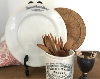 Antique ironstone plate - Country club souvenir