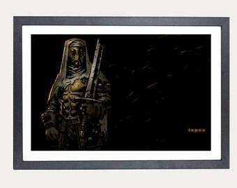 Darkest Dungeon Leper poster print