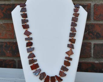 Red Jasper and Copper Necklace