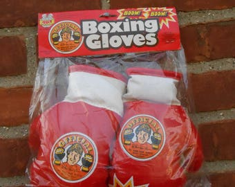 Vintage 1980's RAY Official Boom Boom Mancini Professional Style Toy Boxing Gloves NOS