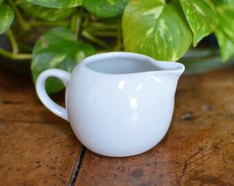 Vintage Cordon Bleu BIA White Ceramic Creamer/Syrup Pitcher