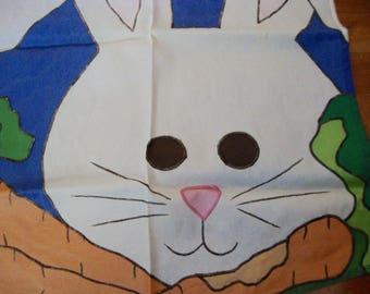 Outdoor Flag Bunny Full Size Nylon Flags Vintage Home Decor