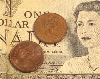 Vintage Canada Penny Coins (2)